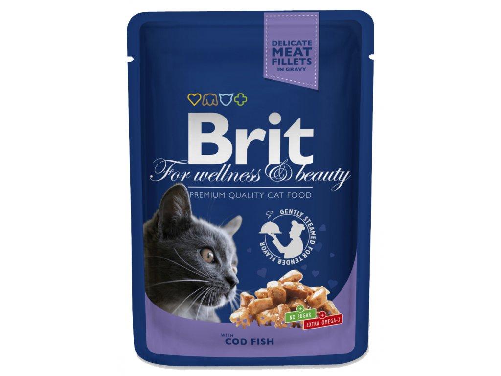 3069 brit premium cat pouches s treskou 100g