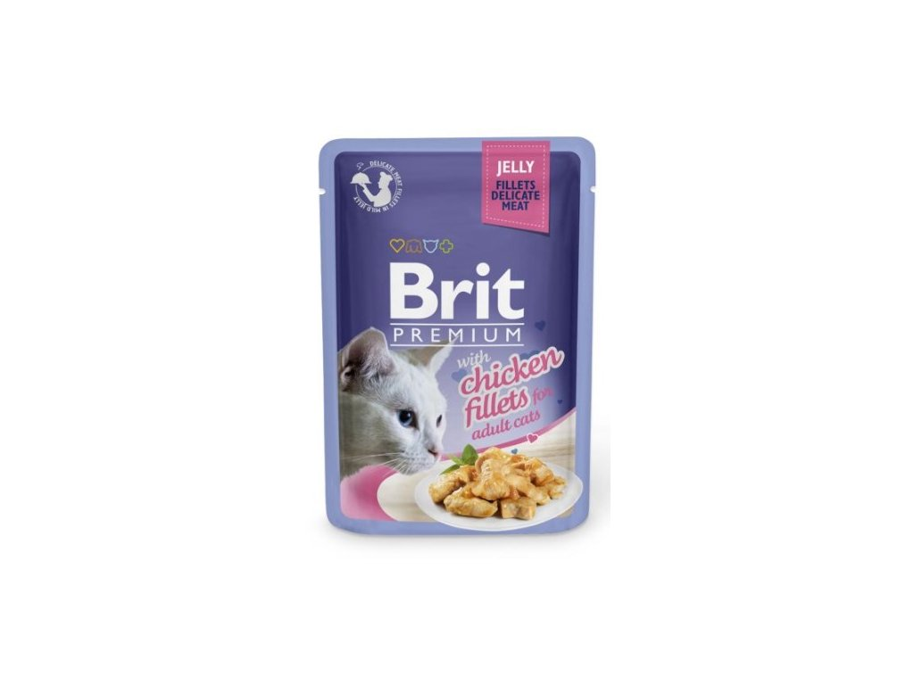 4437 brit premium cat delicate fillets in jelly with chicken 85g