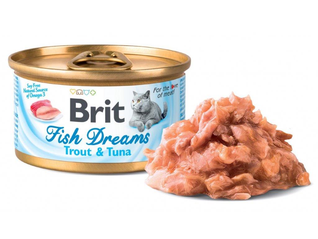 5919 brit fish dreams trout tuna 80g