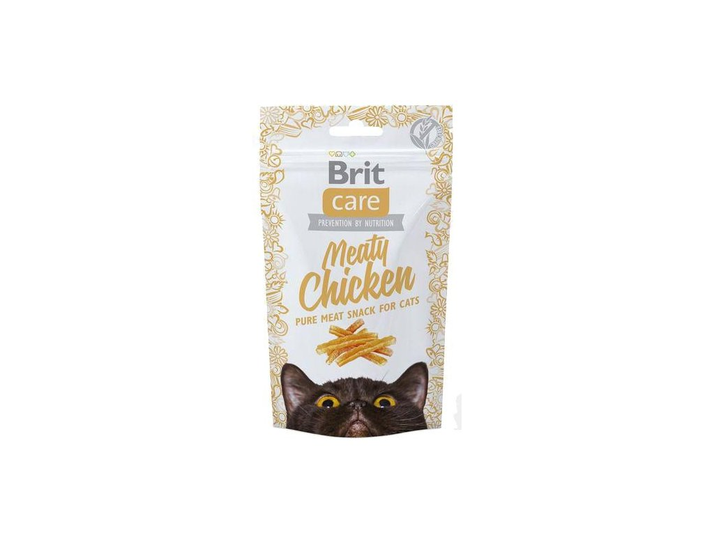 4509 brit care cat snack meaty chicken 50g