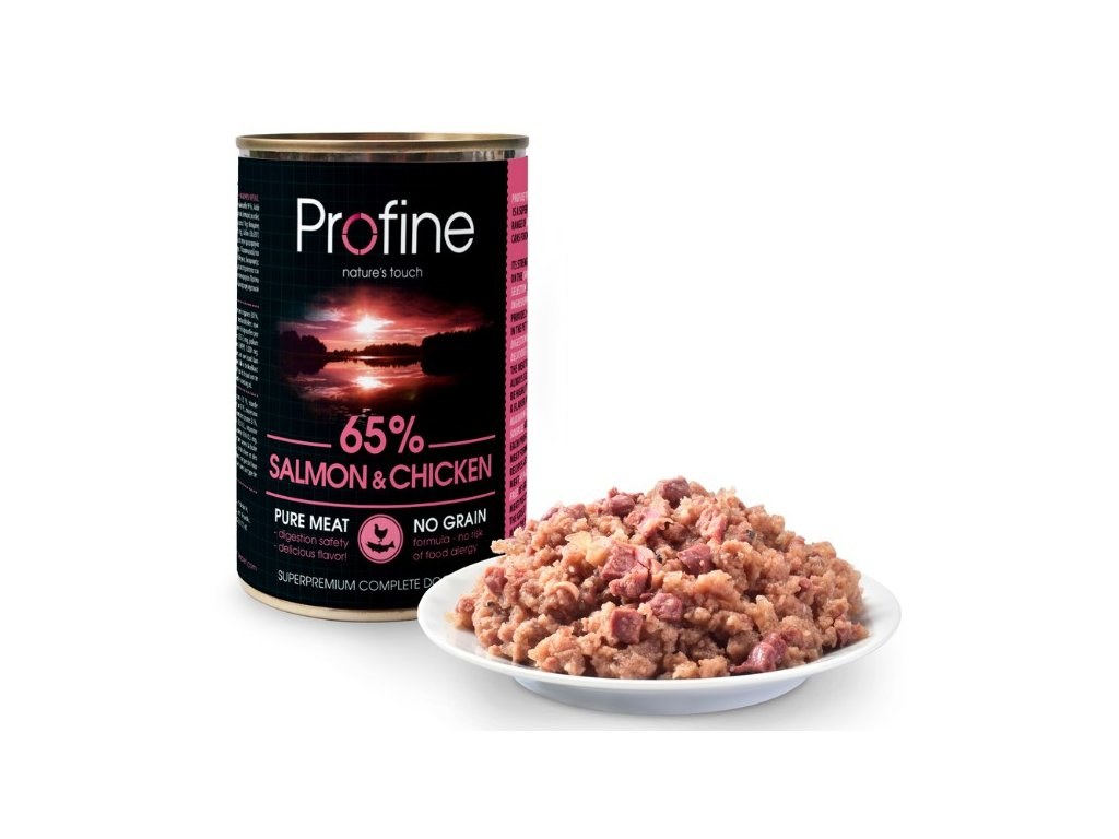 3189 profine pure meat salmon chicken 400g