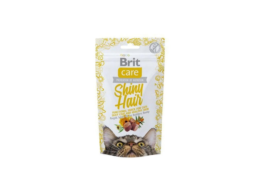 4599 brit care cat snack shiny hair 50g