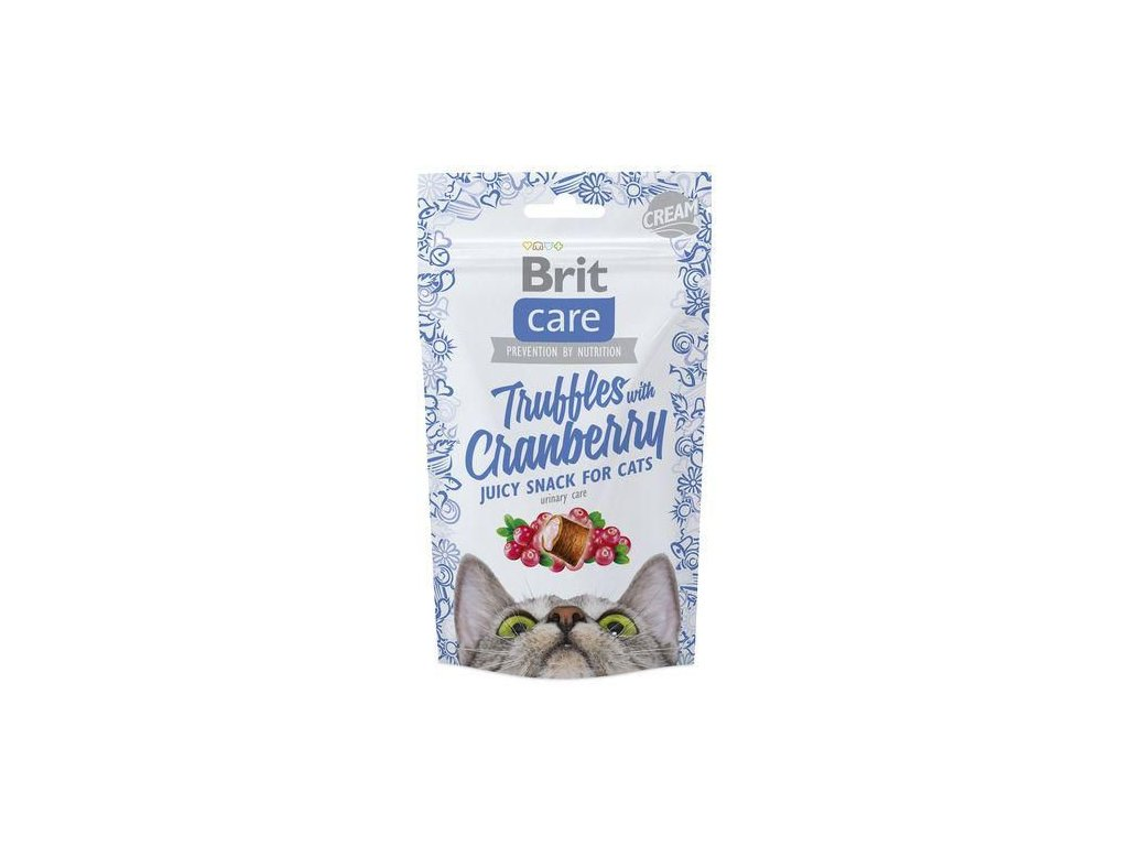 4611 brit care cat snack truffles cranberry 50g