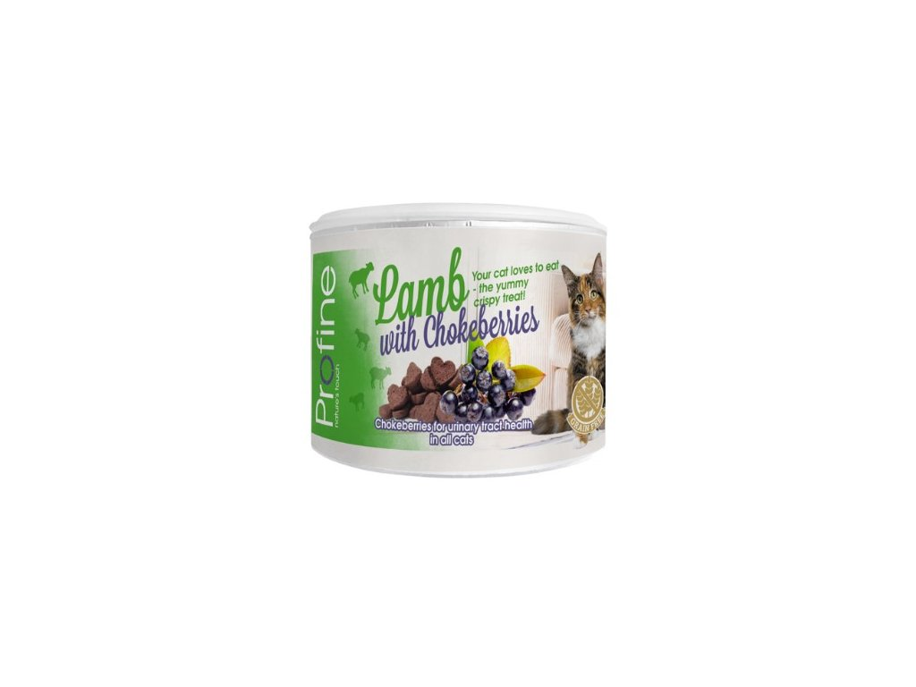 7038 profine cat crunchy snack lamb chokeberries berry 50g