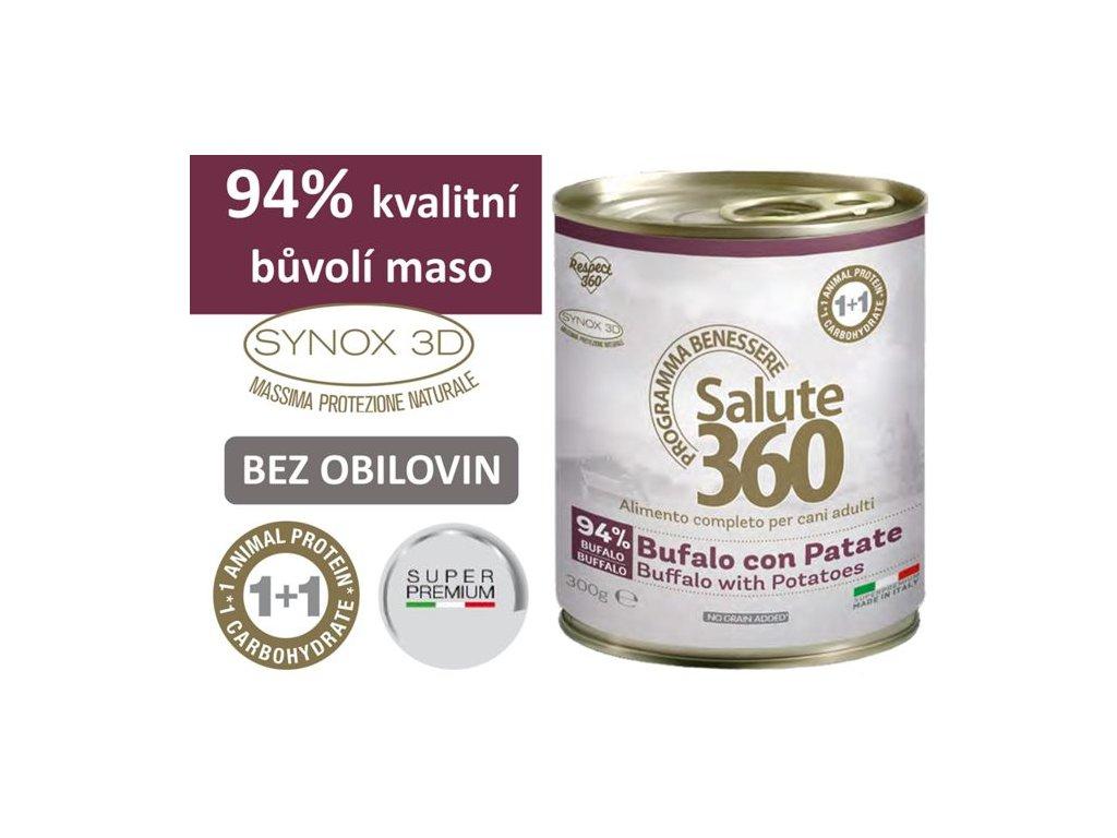 salute superpremium konzerva pes buvol brambor 300g