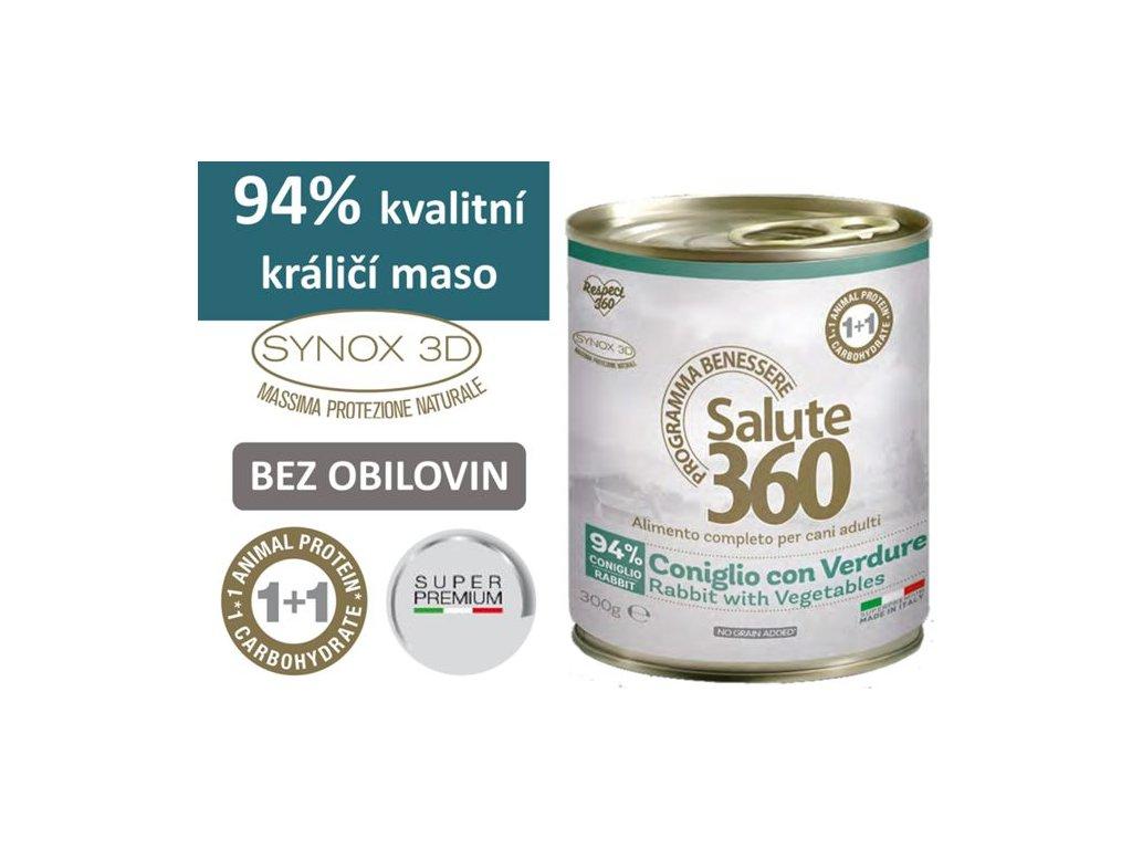 salute superpremium konzerva pes kralik zelenina 300g