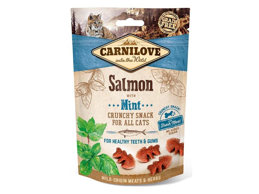 5265 carnilove cat crunchy snack salmon mint 50g