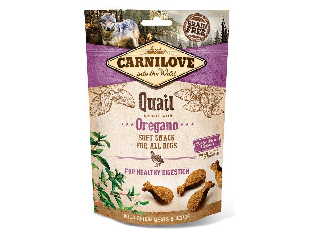 5262 carnilove dog semi moist snack quail oregano 200g