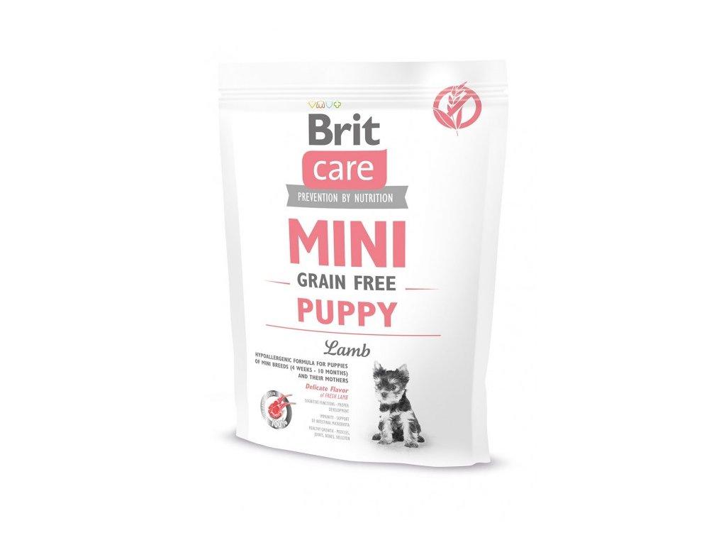 4677 brit care mini grain free puppy lamb 400g