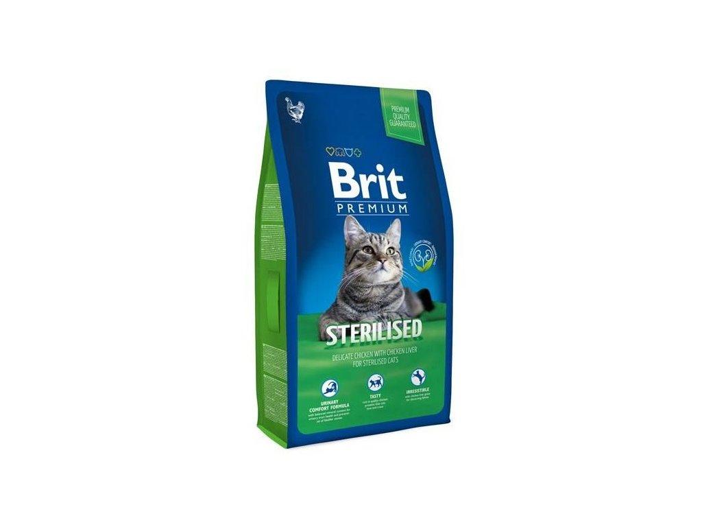 3933 new brit premium cat adult sterilised 8kg