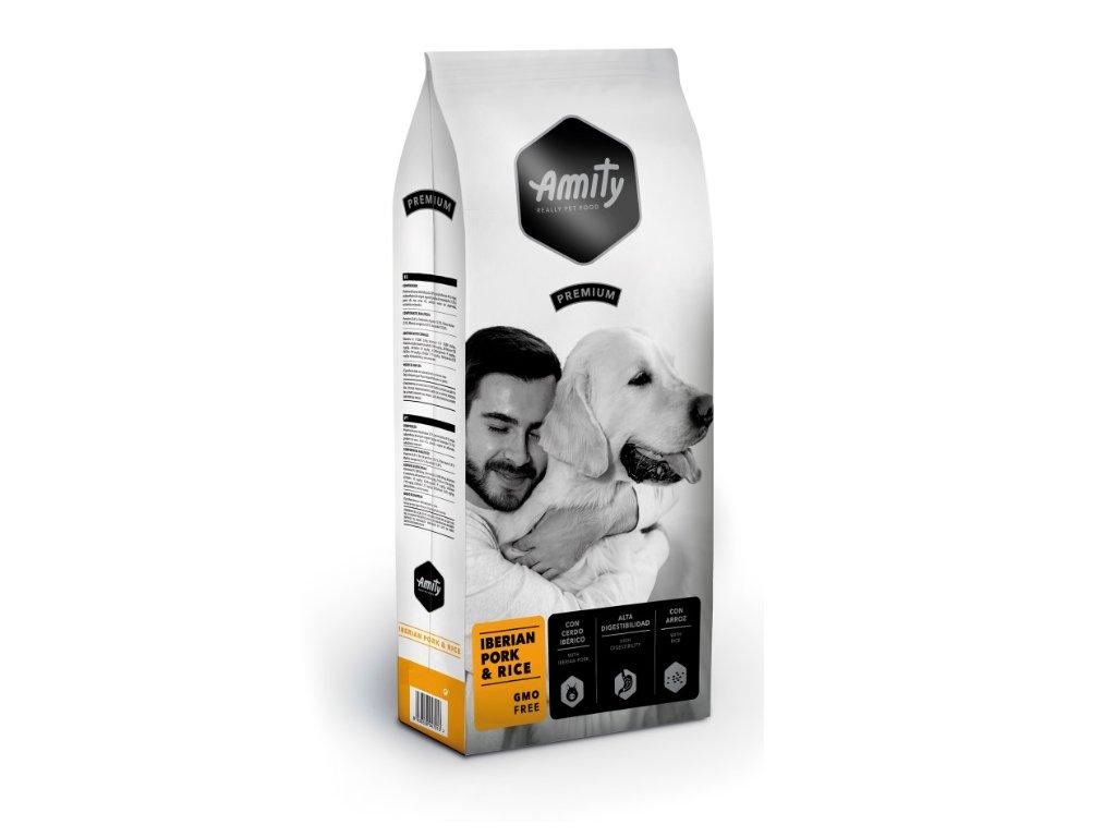 5673 amity premium dog iberian pork rice 3kg