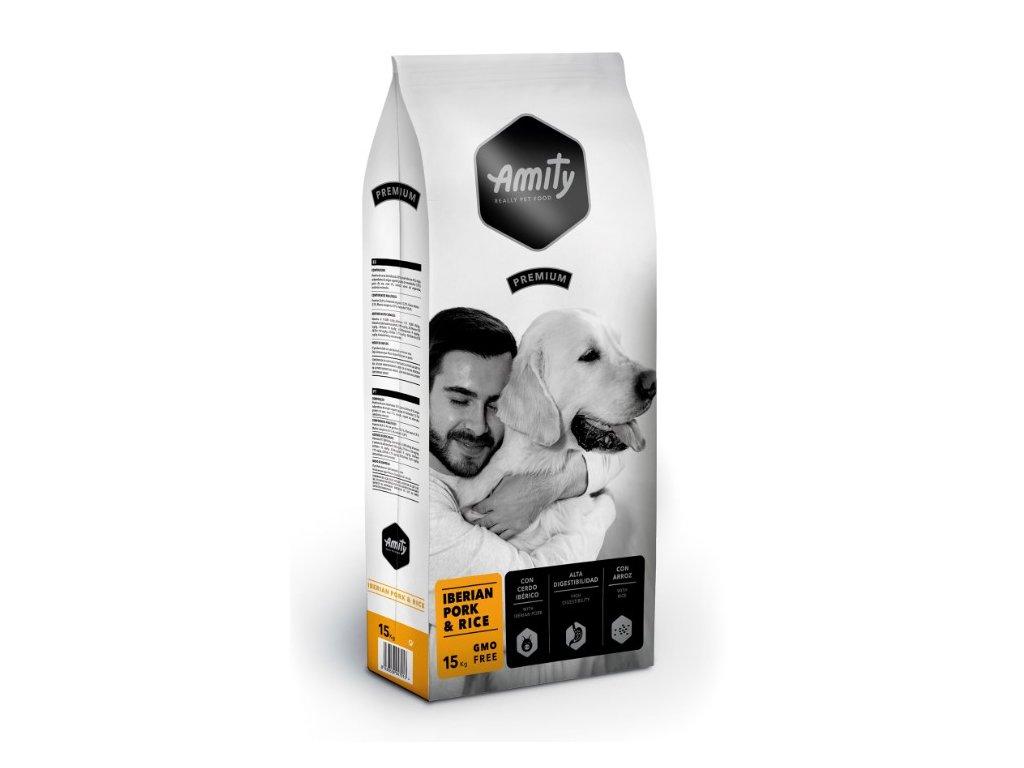 5676 amity premium dog iberian pork rice 15kg