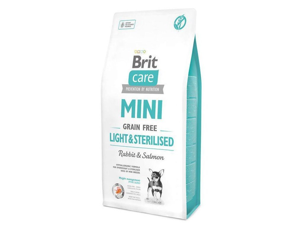 4719 brit care mini grain free light sterilised 7kg
