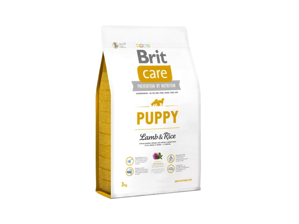 3498 new brit care puppy lamb rice 3kg