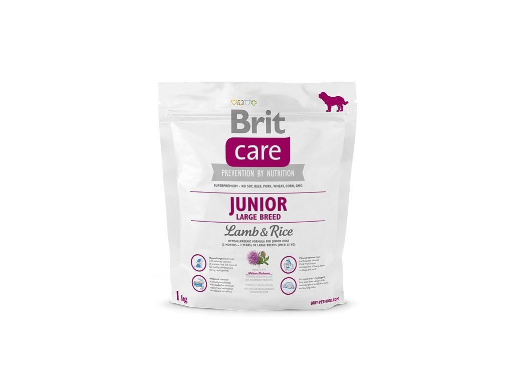 3510 new brit care junior large breed lamb rice 1kg
