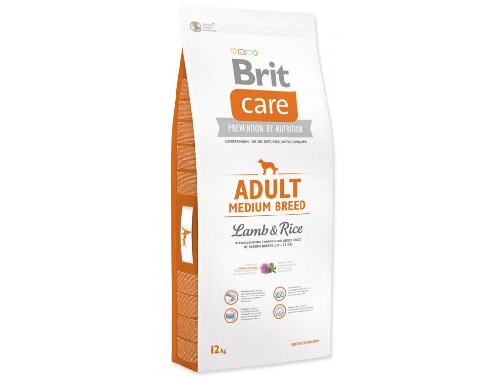 3522 new brit care adult medium breed lamb rice 12kg