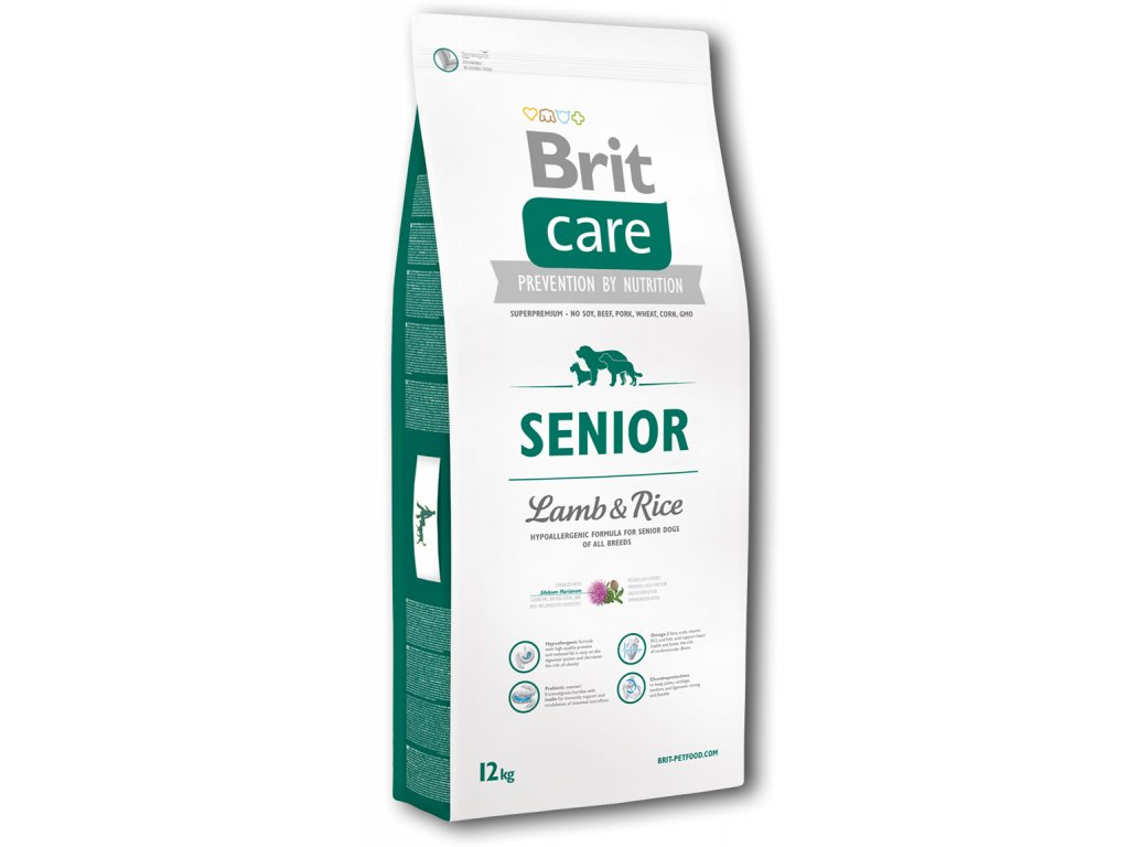 3540 new brit care senior lamb rice 12kg
