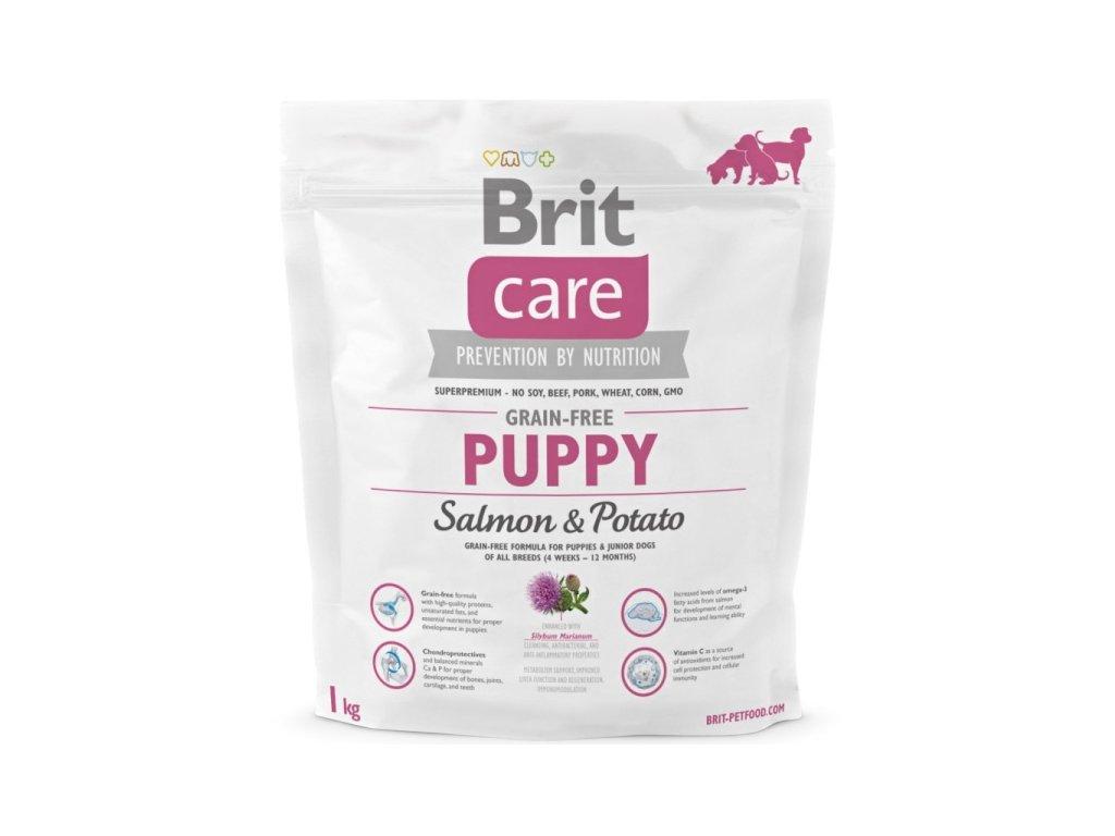 3555 new brit care grain free puppy salmon potato 1kg