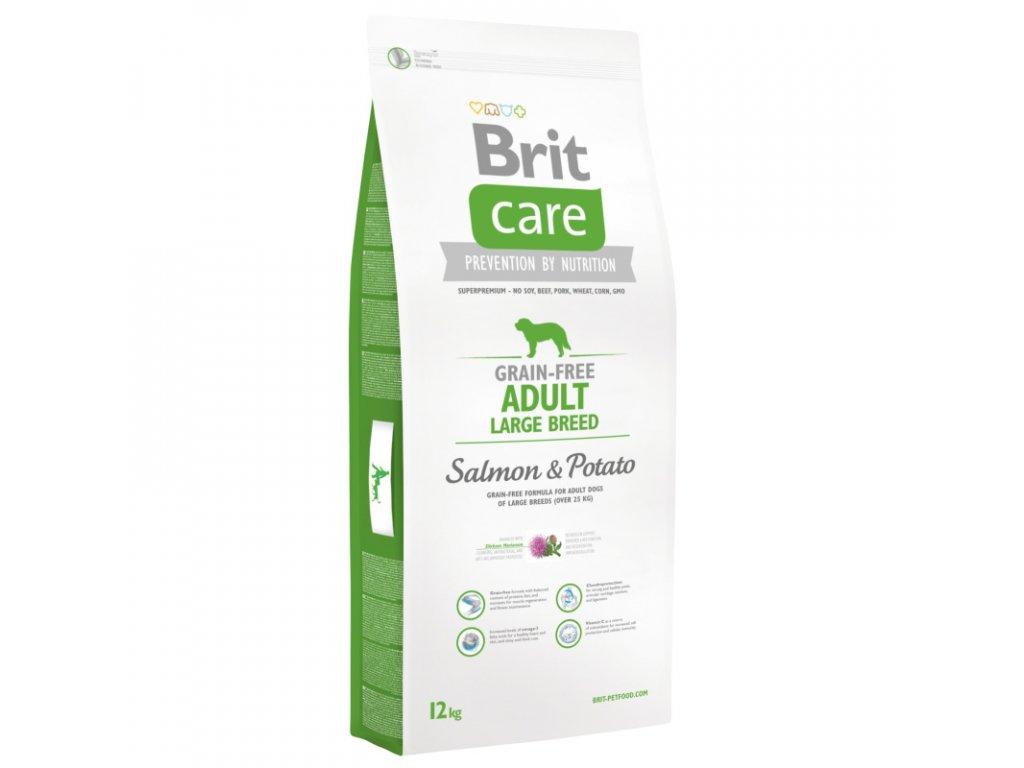 3576 new brit care grain free adult large breed salmon potato 12kg