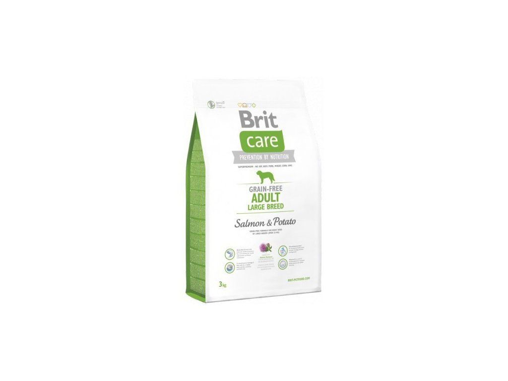 3579 new brit care grain free adult large breed salmon potato 3kg