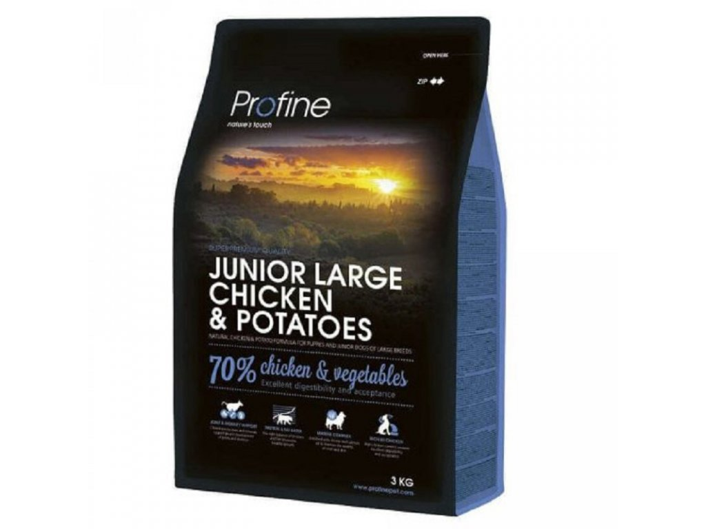4329 new profine junior large breed chicken potatoes 3kg