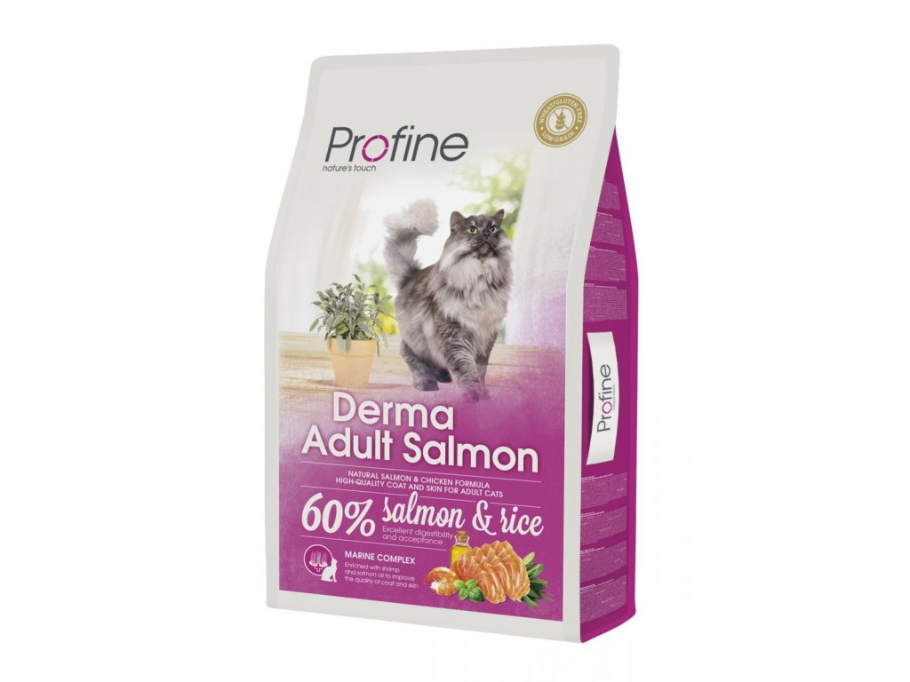 4398 new profine cat derma adult salmon 10kg