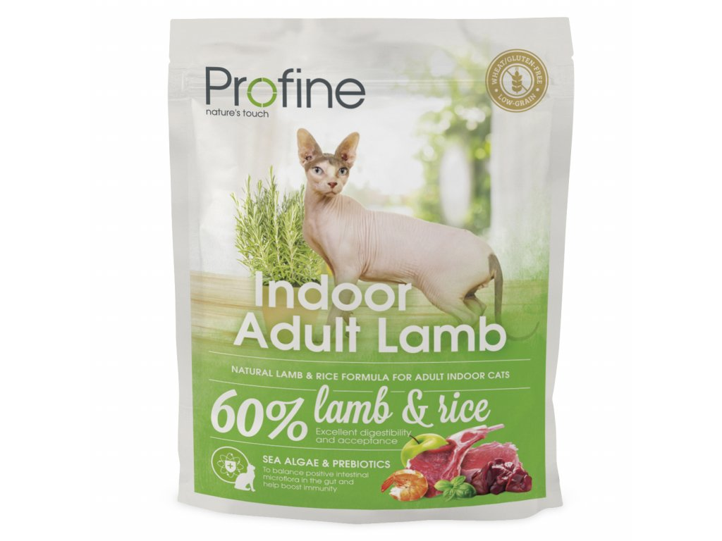 4383 new profine cat indoor adult lamb 300g