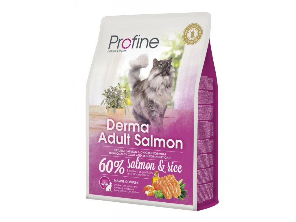 4395 1 new profine cat derma adult salmon 2kg