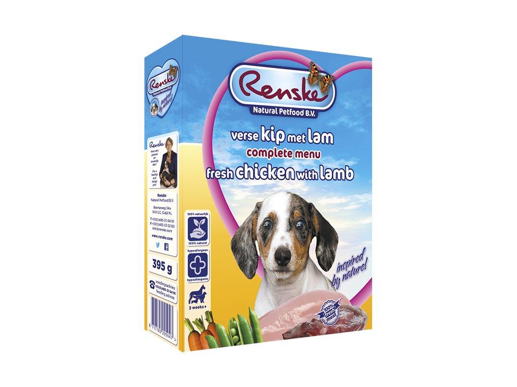 renske fresh menu dog 395g puppy jehne kure