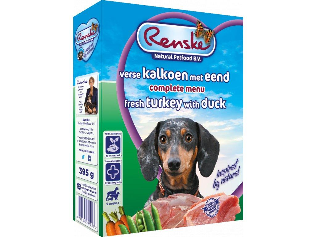 renske fresh menu dog 395g adult kruta kachna