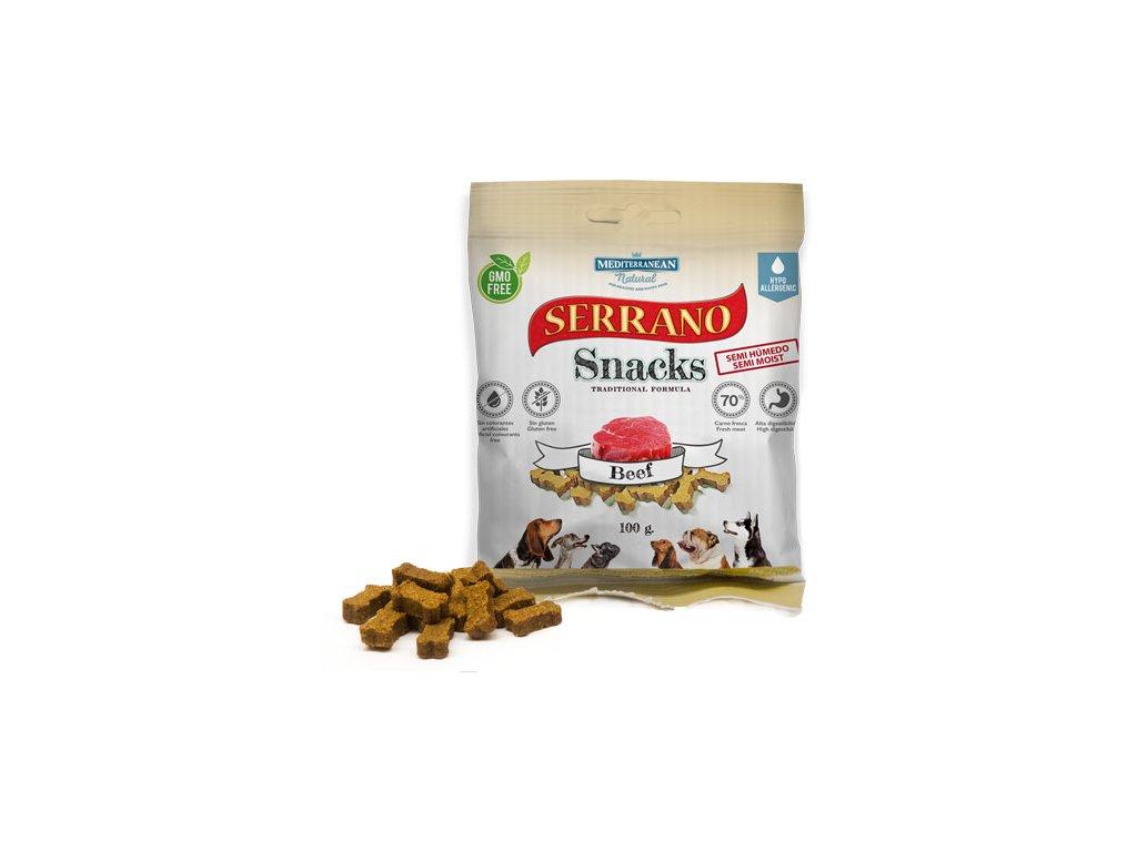 Serrano Snacks Mediterranean Natural beef buey bolsita