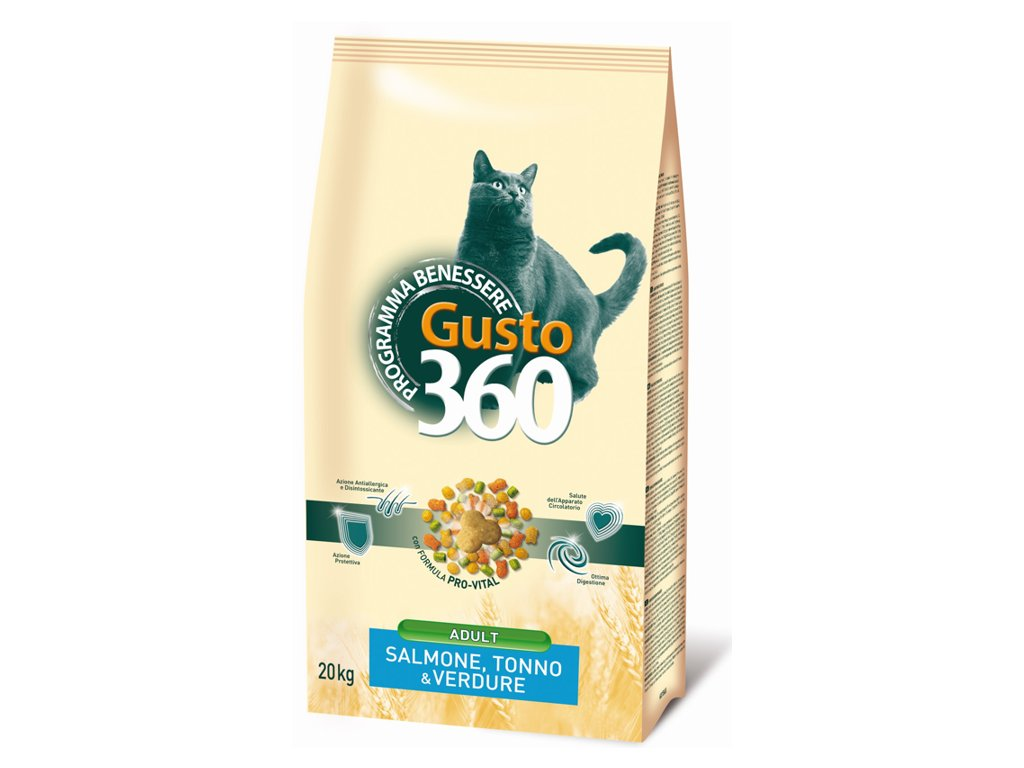 gusto cat adult mix losos tunak zelenina