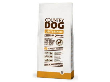 3729 country dog light senior 15kg