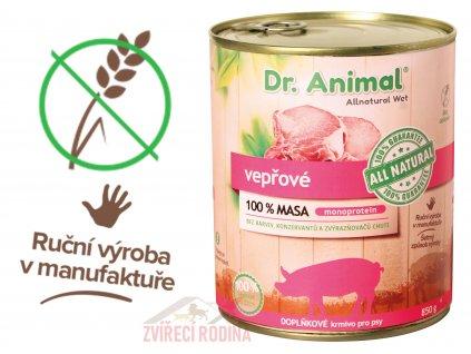 Dr. Animal konzerva vepřová 850g