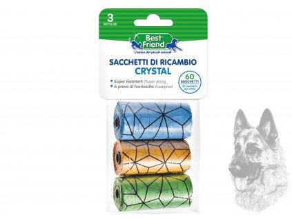 sáčky na psí exkrementy barevné