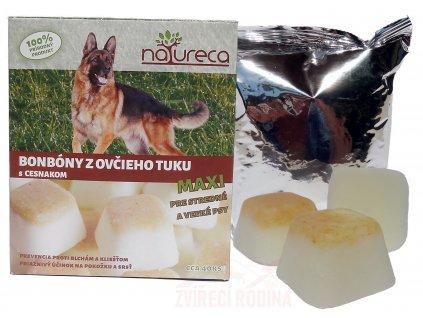 Bonbony z ovčího tuku pro psy s česnekem