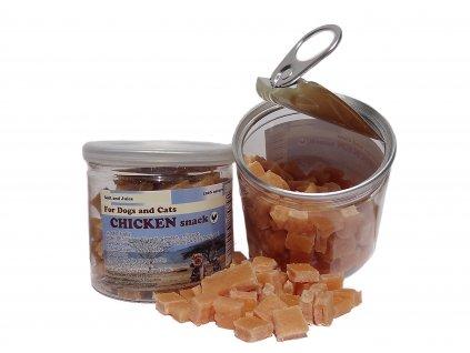 Kostkly kuřecí sušené maso