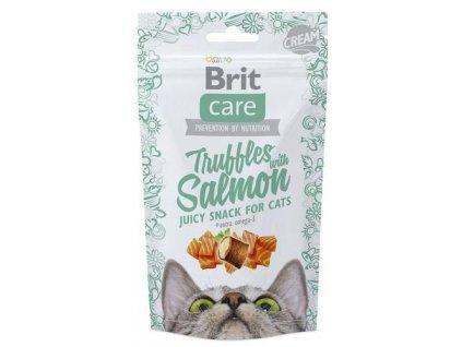 4605 brit care cat snack truffles salmon 50g