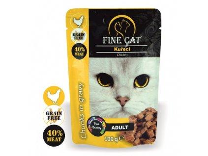 Fine Cat kapsička Grain-Free Adult kuřecí v omáčce
