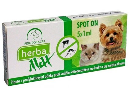 1737 herba max spot on dog cat 5x1ml