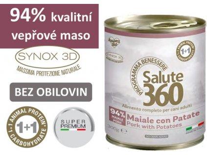 salute superpremium konzerva pes veprove brambor 300g