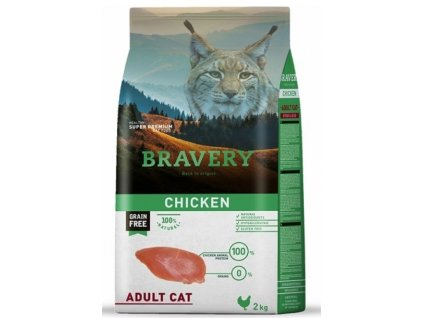 5700 bravery cat adult grain free chicken 2kg