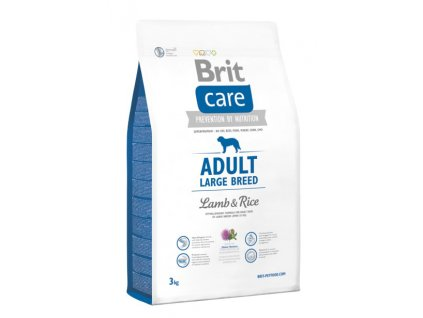 3534 new brit care adult large breed lamb rice 3kg