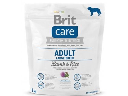 3537 new brit care adult large breed lamb rice 1kg