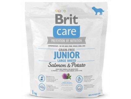 3564 new brit care grain free junior large breed salmon potato 1kg