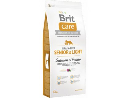 3594 new brit care grain free senior light salmon potato 12kg