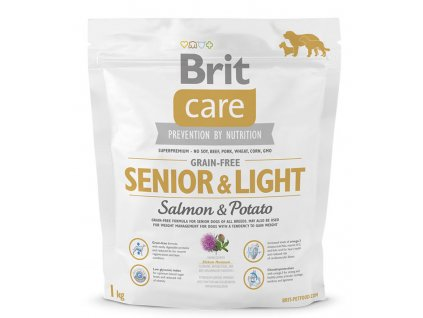 3600 new brit care grain free senior light salmon potato 1kg