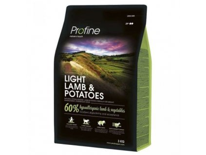 4344 new profine light lamb potatoes 3kg