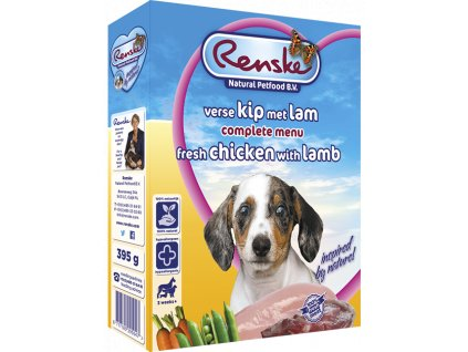 renske fresh menu dog 395g puppy jehne kure