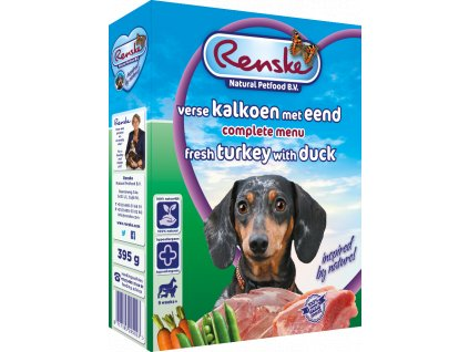 renske fresh menu dog 395g adult kruta kachna